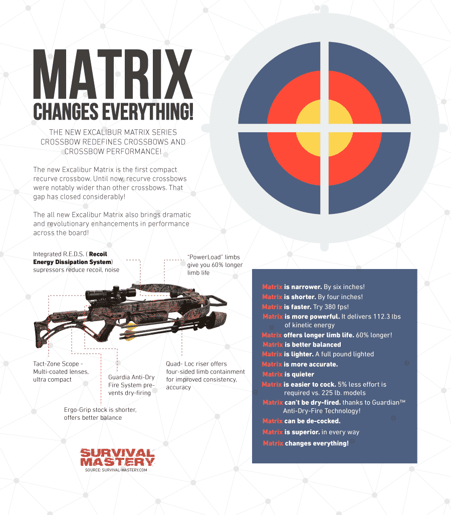 Matrix Hunting Bow infographic