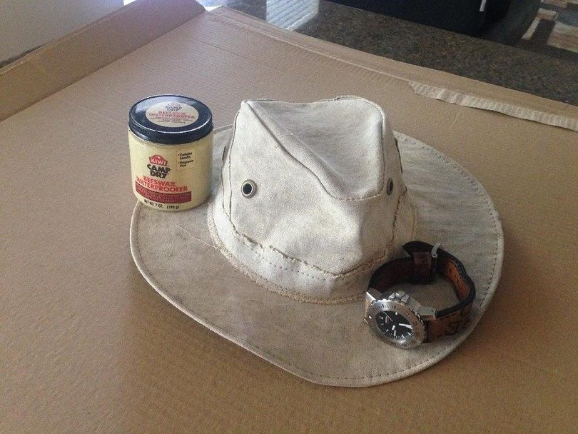 Beeswax on a hat