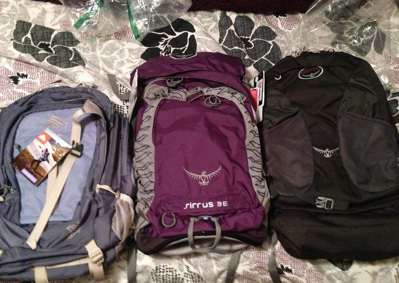 Osprey Farpoint backpacks