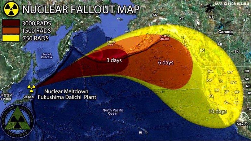 Radiation fallout
