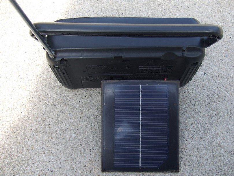 Radio on solar panels