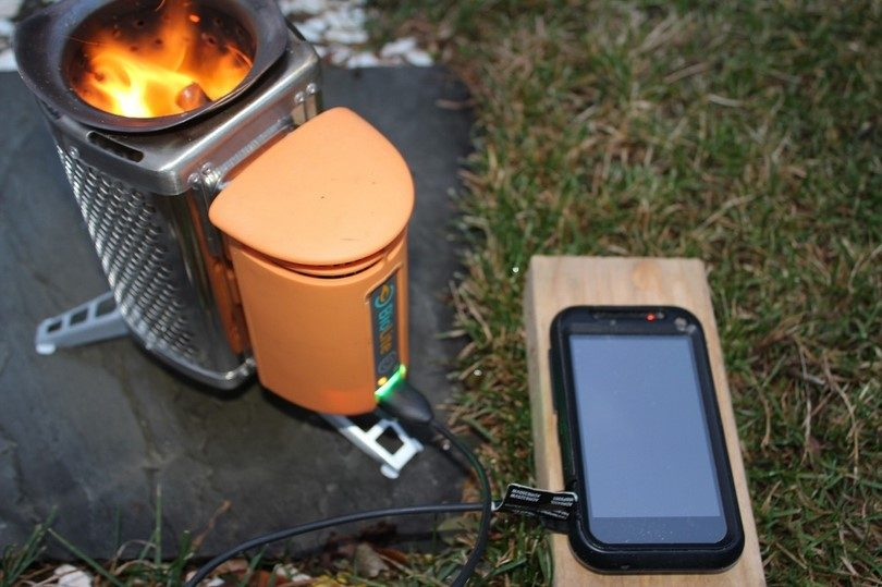 Stove as charger