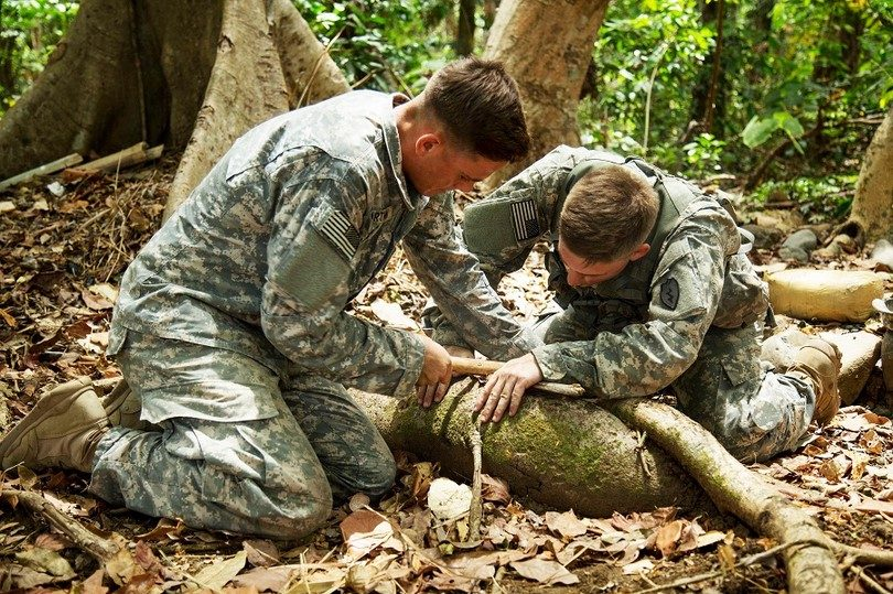 Start a fire in jungle exercise