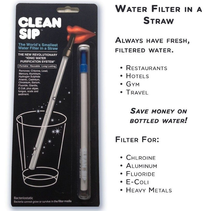Survival Straw Water Filter, Worlds Smallest Filter In A Straw!
