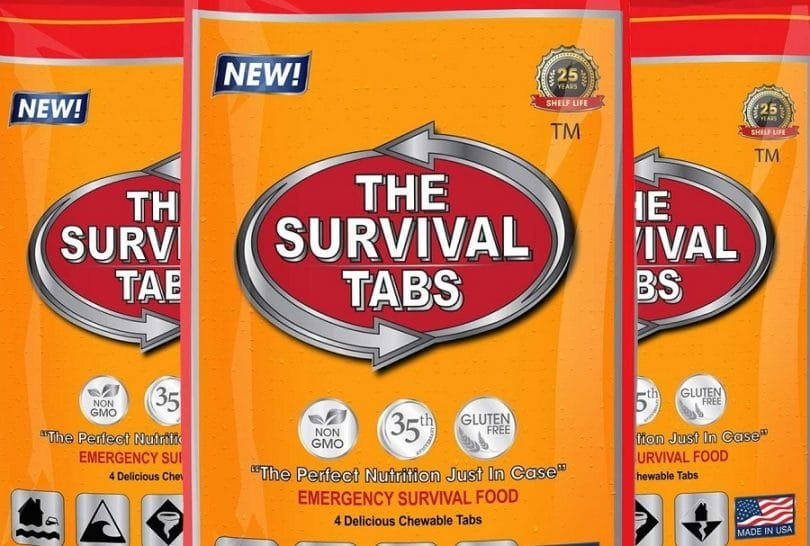 Survival Tabs 8-Day Food Supply 96 Tabs Emergency Food Ration Survival