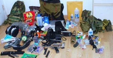 Survival bag contents