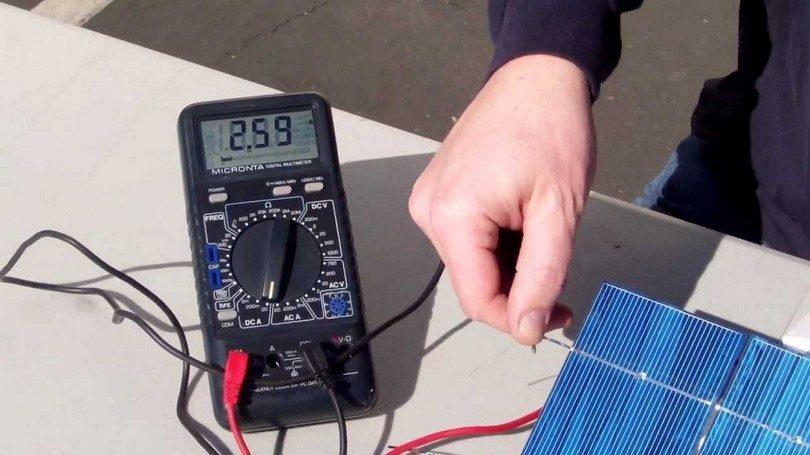 Testing the solar cells