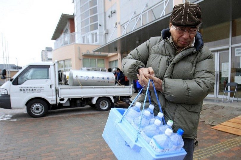Water for evacuation