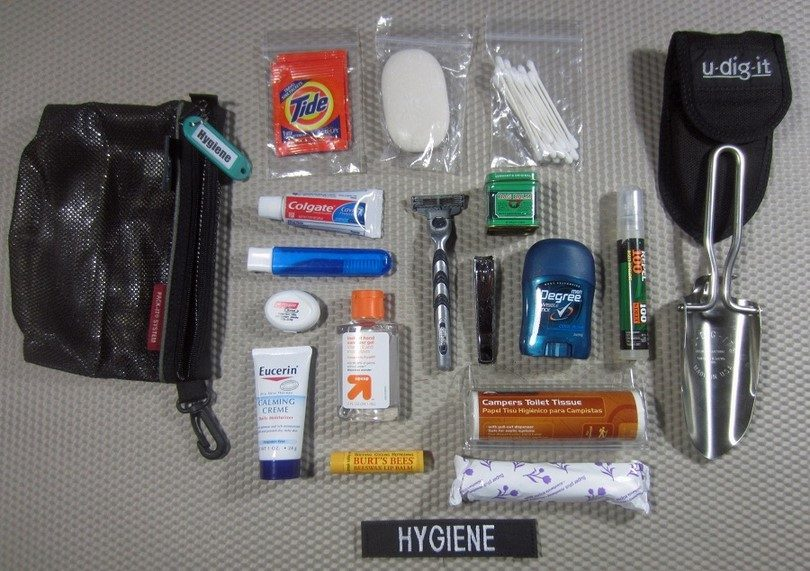 Bug out personal hygiene items