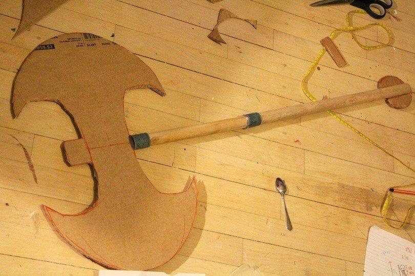 Cardboard axe