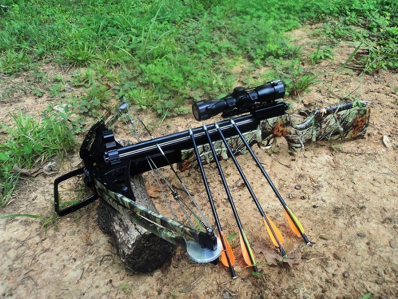 Crossbow with arrows