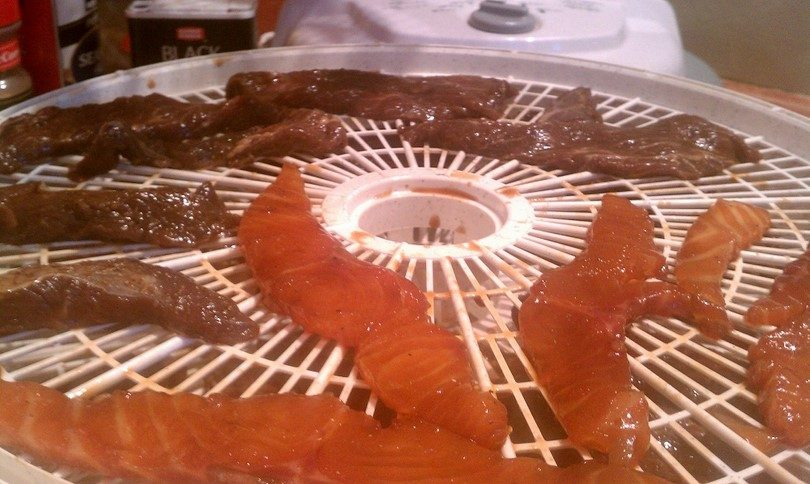 Dehydrating meat