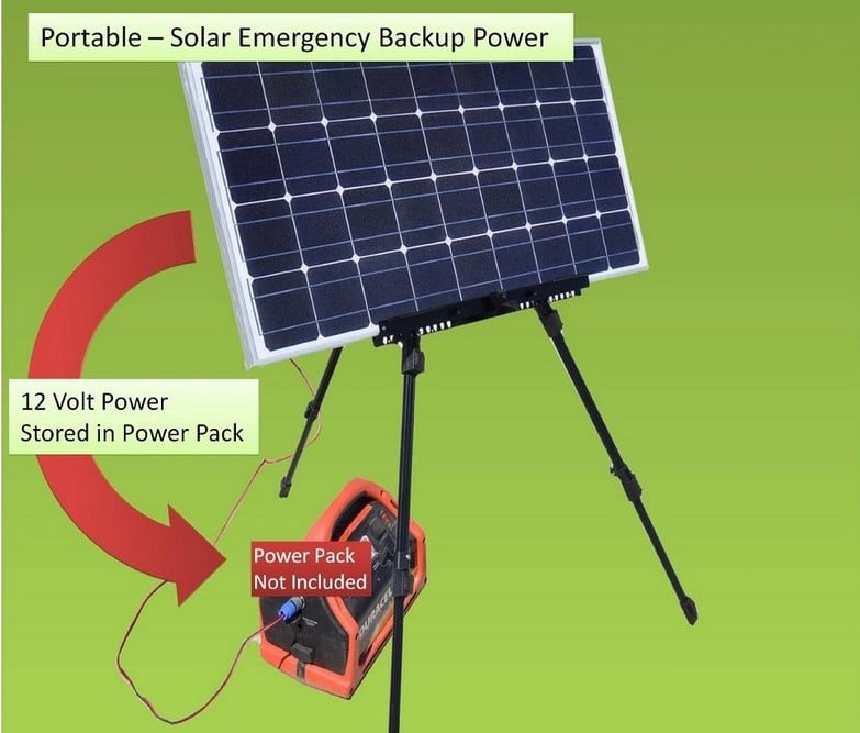 Emergency survival solar generator 85W DC solar backup power