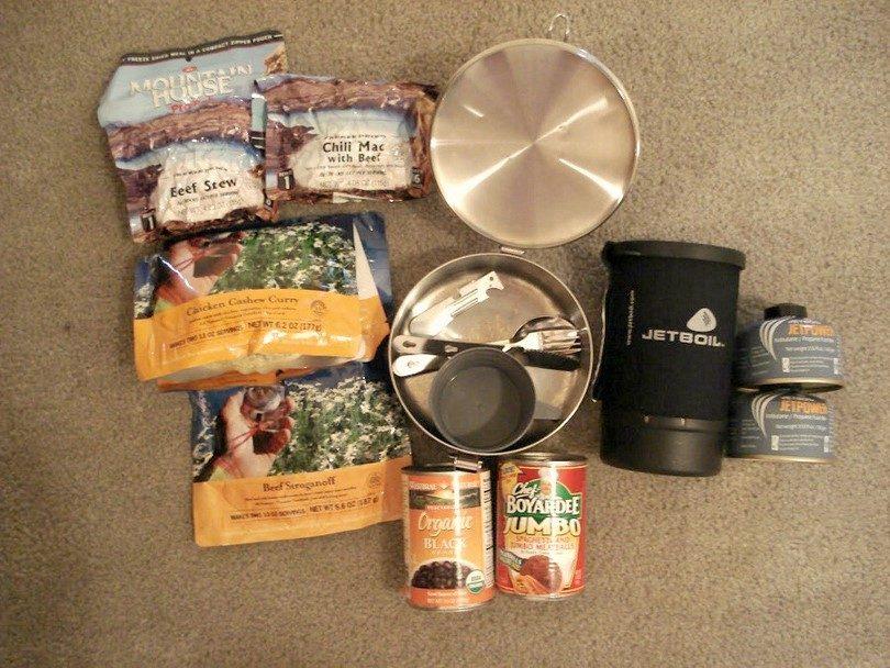 Food for bug out bag