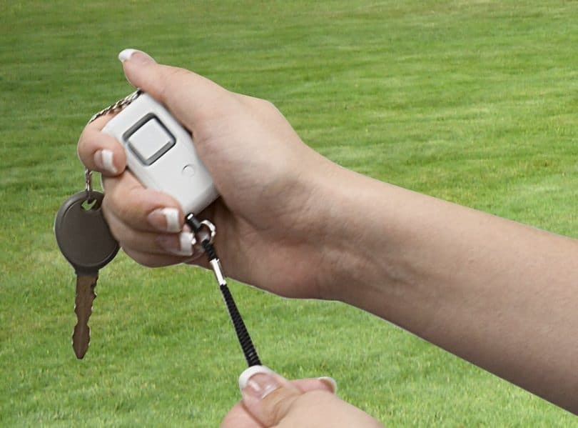 GE Personal security keychain alarm