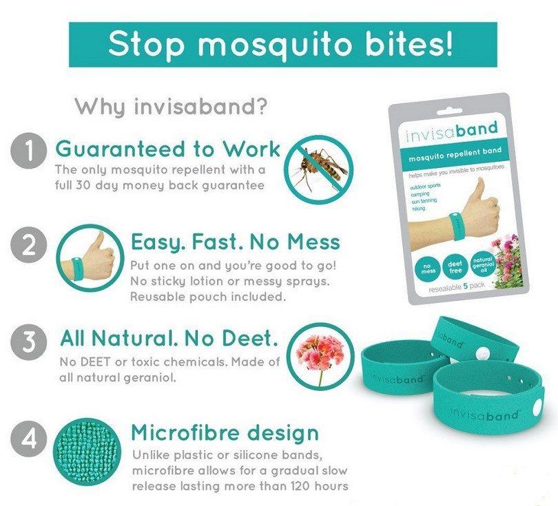 Invisaband Mosquito Repellent Bracelets