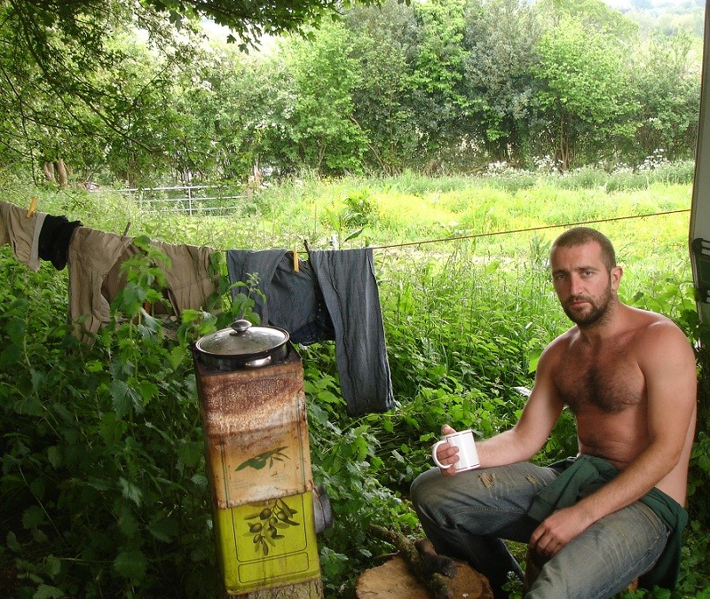 Man living off grid with no money