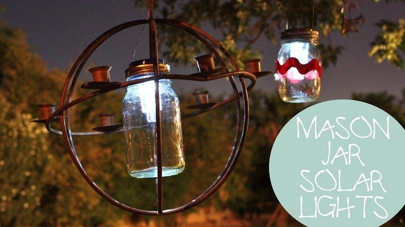 Mason jars solar lanterns