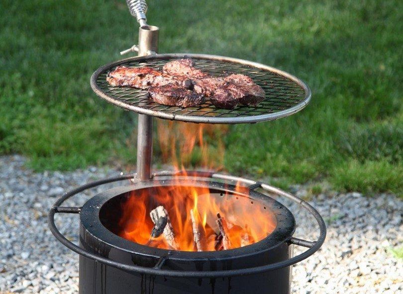 Meat on smokeless fire