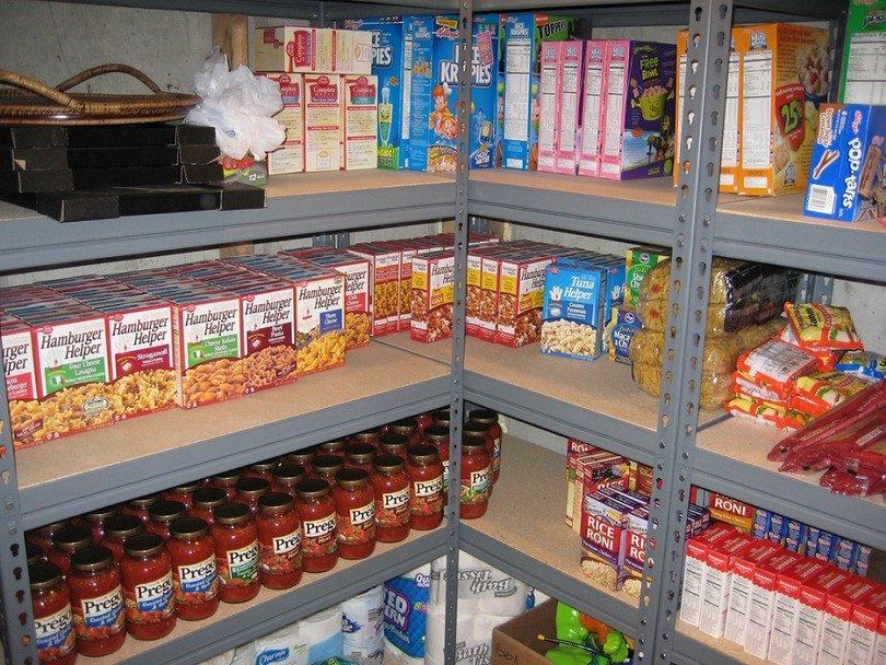 Prepper food stockpile for short term