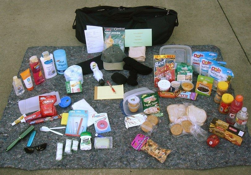 Some items that goes in survival kit