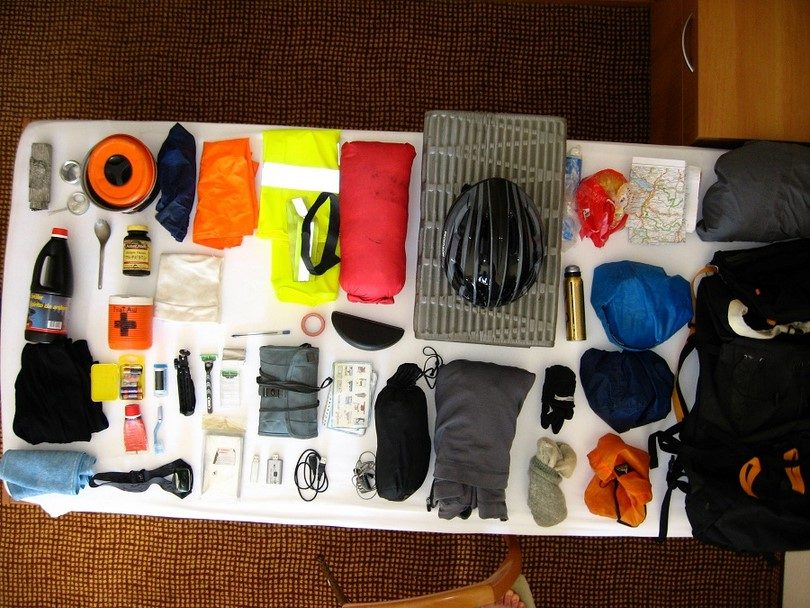 Survival gear packing