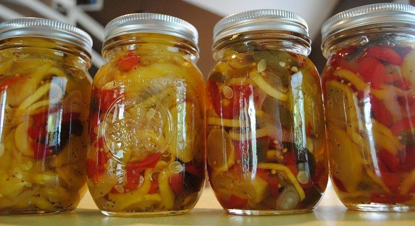 Sweet peppers canned