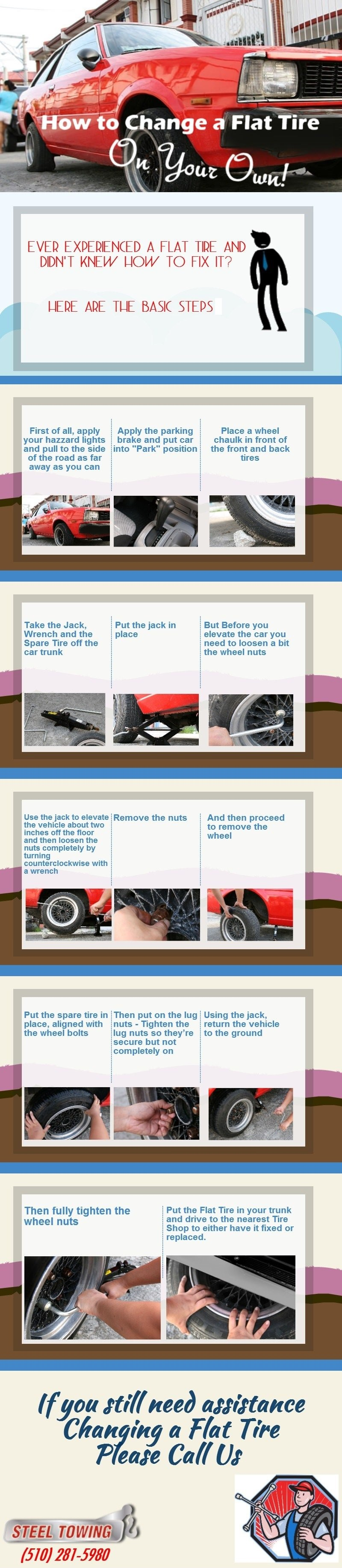 Change a tire-Infographic