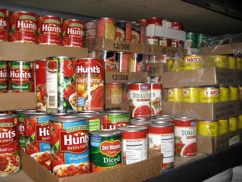 Commercially canned food