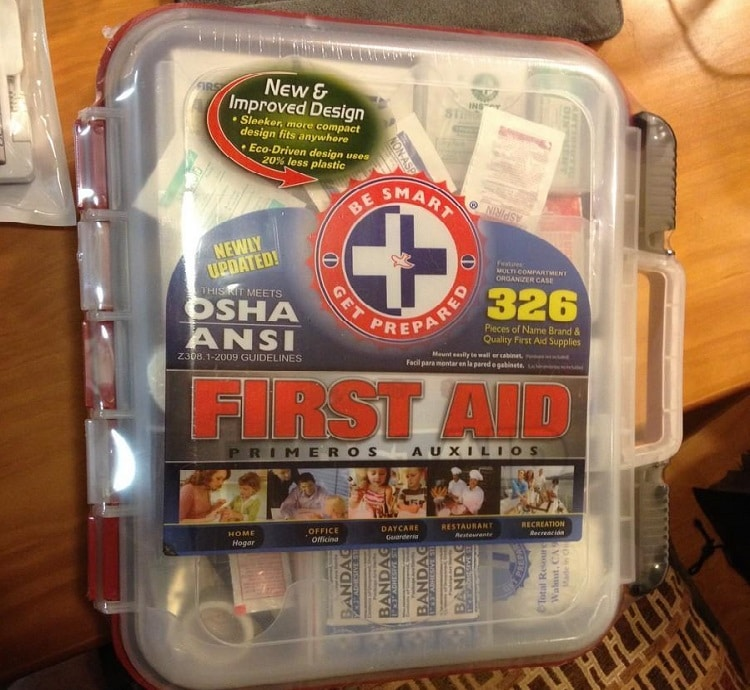 First Aid Kit With Hard Case
