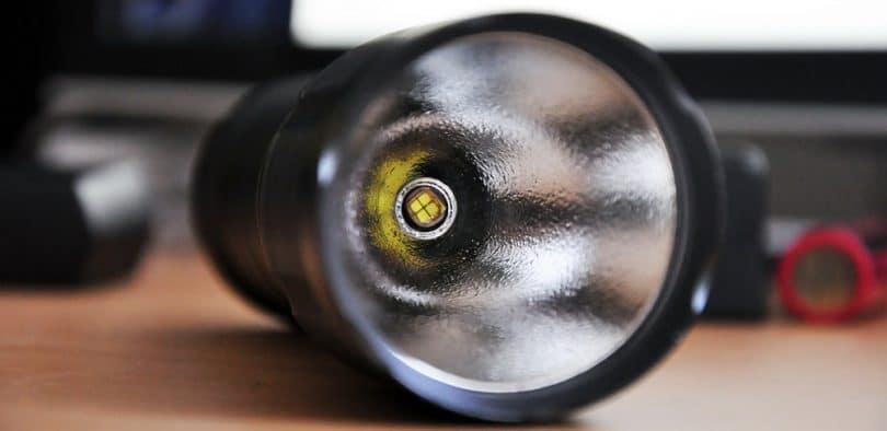 Flashlight with LED light