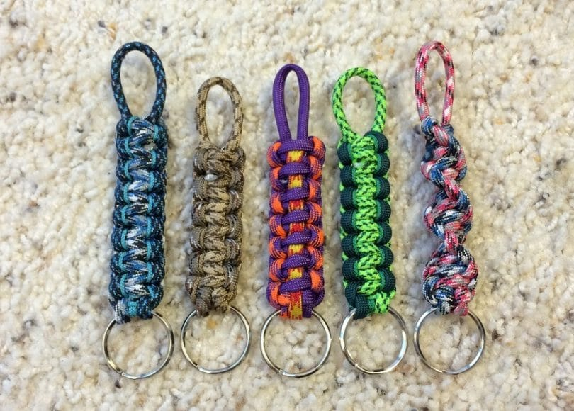 Paracord Keychains homemade