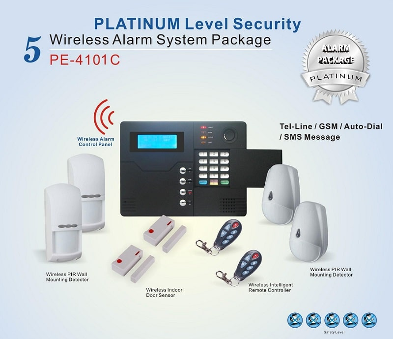 Platinum Level Security Wireless GSM Alarm System