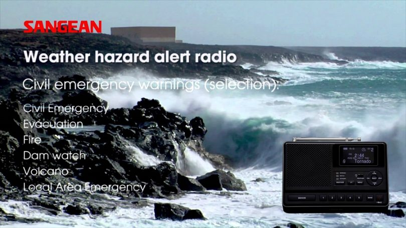 Sangean CL-100 Table-top Weather Hazard Alert radio