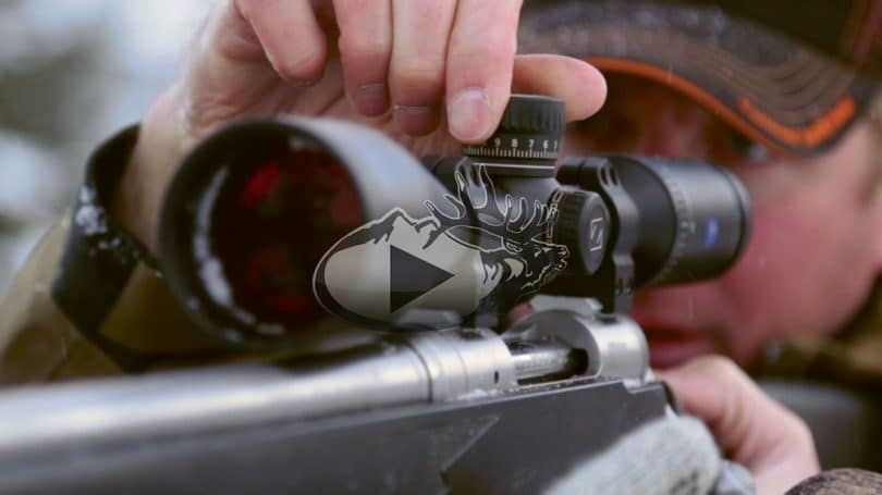 Sighting rifle scope