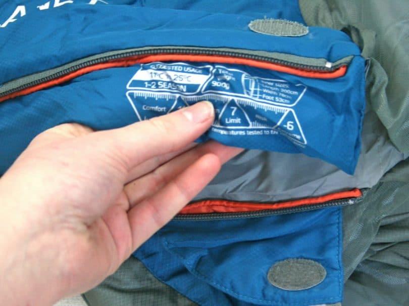 Sleeping bag specs