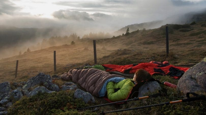 Sleeping bag outdoor