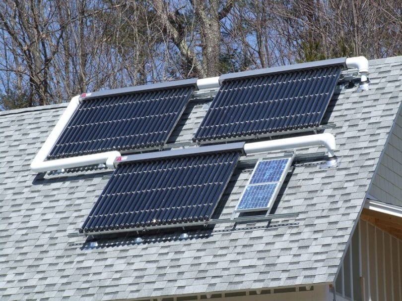 Solar panels for heat & hot water