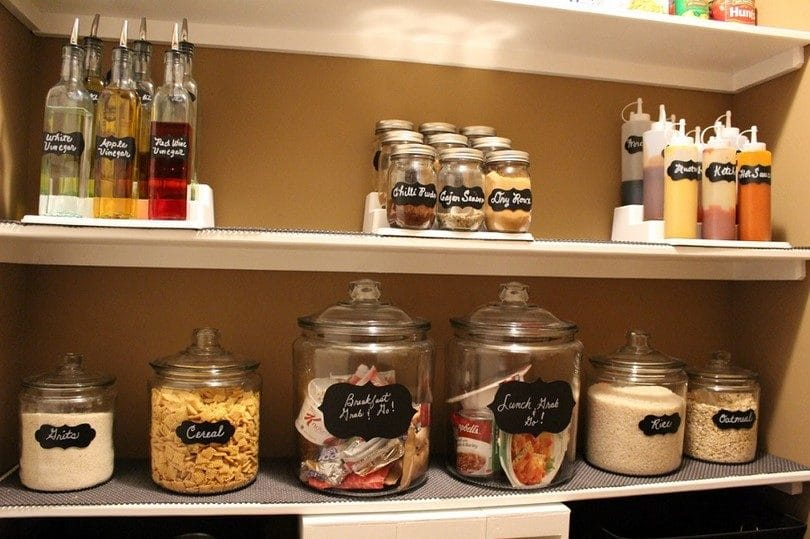 Storing grains in the pantry