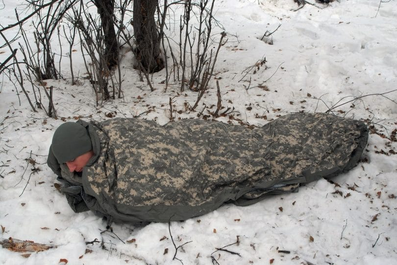 US Military MSS Black Intermediate Cold Weather Mummy-Style Sleeping Bag