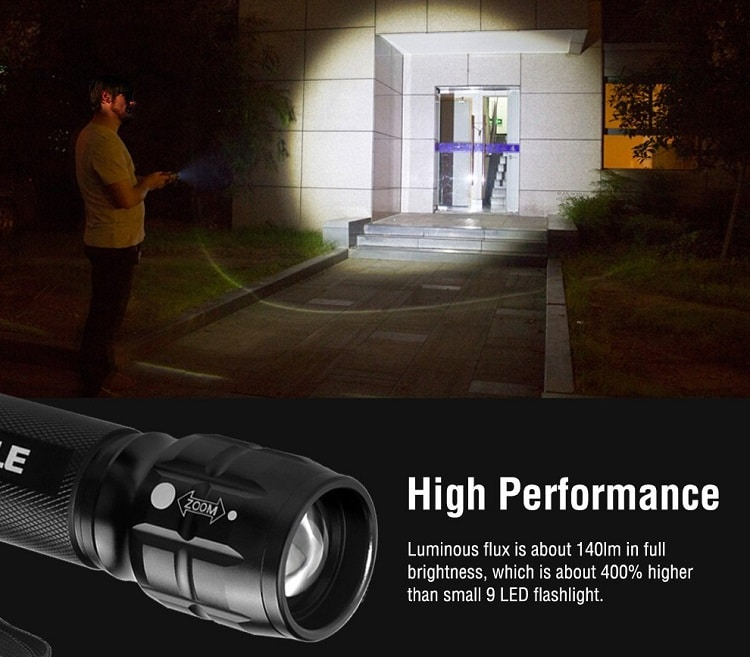 LE Adjustable Focus CREE LED flashlight