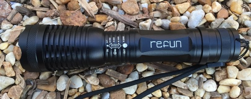 Refun E6 900 Lumens Tactical Flashlight