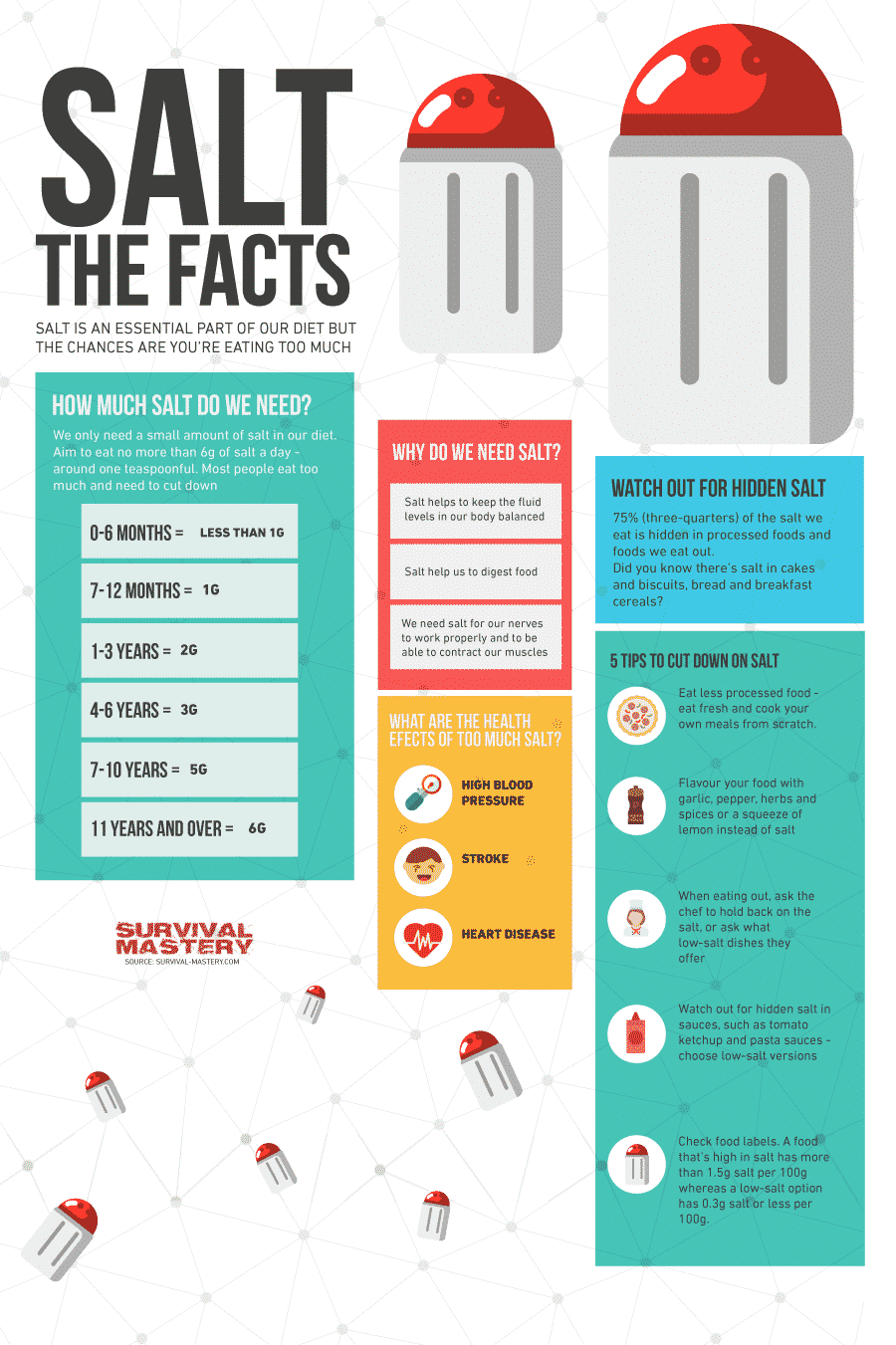 Salt the facts infographic