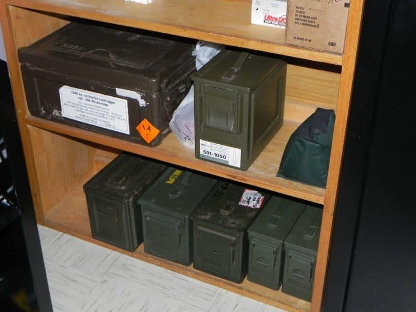 Ammo storage cabinet