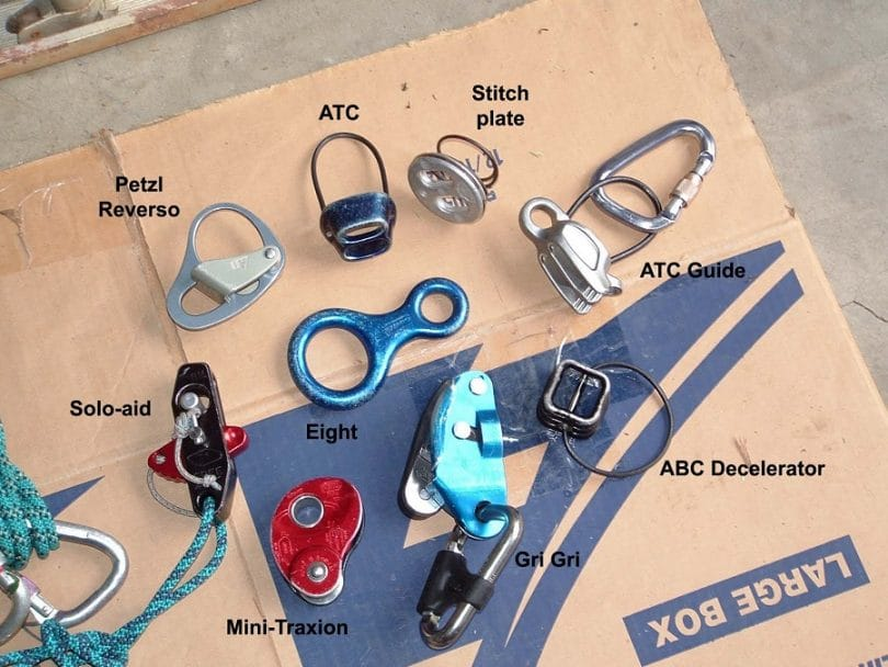 Belay devices notated