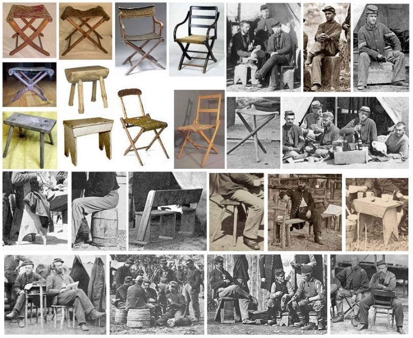 Camping chair through history