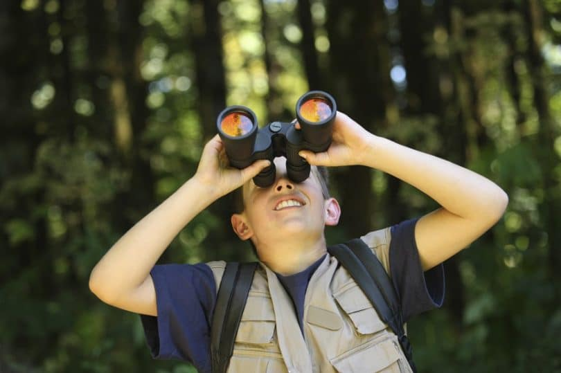 Children camping binoculars