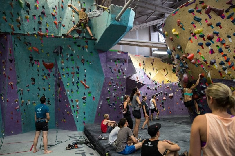 Indoor Rock-Climbing