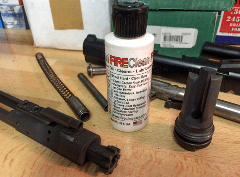 Lurication for gun cleaning