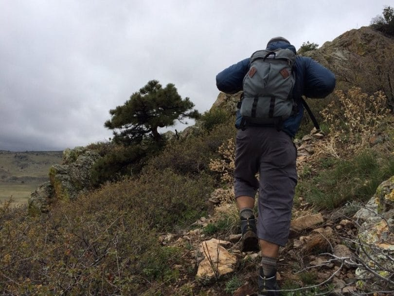 Man with hiking boots